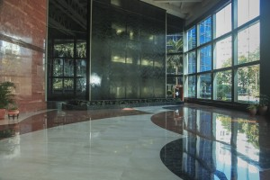 clean office lobby picture