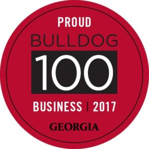 Bulldog 100 business logo